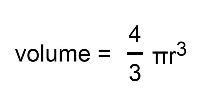 Volume Of Sphere Formulae