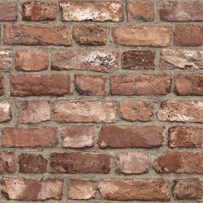 Vintage Brick Red Wall