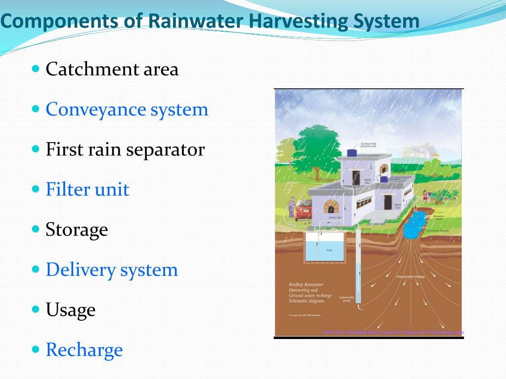 Components Of Rainwater Harvesting System Image