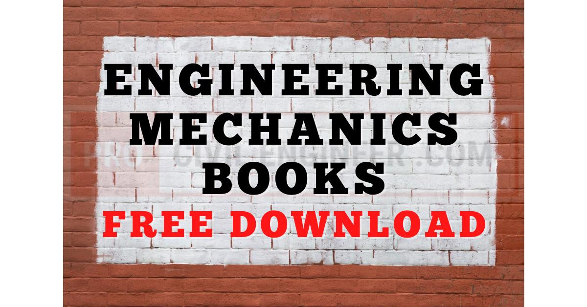 Engineering Mechanics Books Free Download