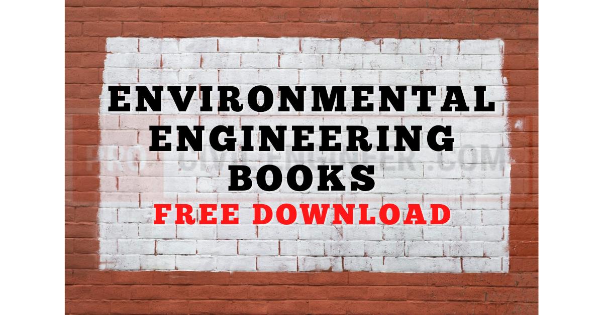 Environmental Engineering Books Free Download